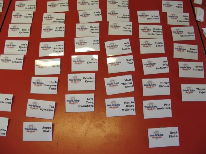 Navneskilte - den første WordCamp Danmark i 2010